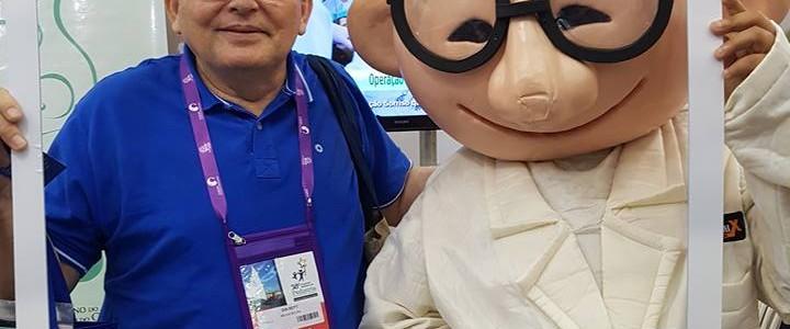 Presidente da Fundação Vingt-un no congresso nacional de pediatria